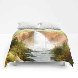 Beyond the Waterfall Comforters