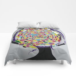 Mind Reflection - Contemporary Art Comforters