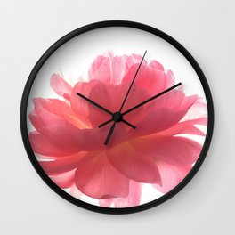 Pink peony Wall Clock