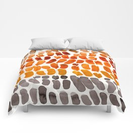 Yellow Ochre Brown Dark Brown Fall Autumn Color Palette Natural Patterns Colorful WatercolorAbstract Comforters