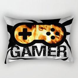 Gamer Flames BNW Rectangular Pillow