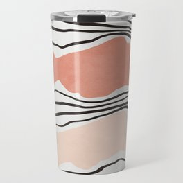 Modern irregular Stripes 01 Travel Mug