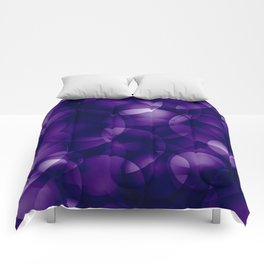 Dark intersecting blueberry translucent circles in bright colors with a mauve glow. Comforters