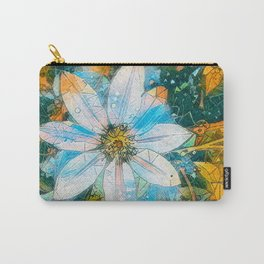 Clematis AI Blue Field Carry-All Pouch