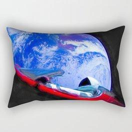 Tesla's Starman Rectangular Pillow