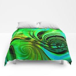 Curls Deluxe Green Comforters