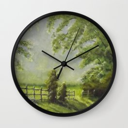 Country Path Wall Clock