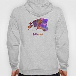 Estonia in watercolor Hoody