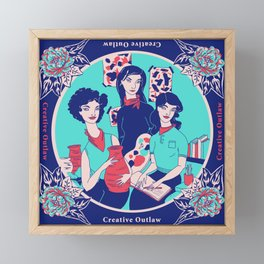 Women Artists (Creative Outlaws) Framed Mini Art Print