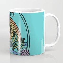 Turquoise Sunset Mermaid Coffee Mug