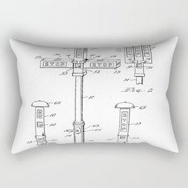 Vintage Design for Car Fan by Garrett Morgan Rectangular Pillow