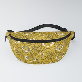 Tigers on Yellow Fanny Pack