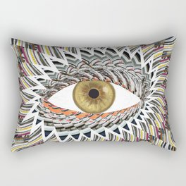 Origami Chakra Eye - Golden Hazel Rectangular Pillow