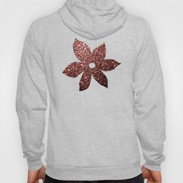 Beautiful Glam Marsala Brown-Red Glitter sparkles Hoody