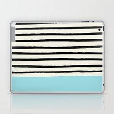Sky Blue x Stripes Laptop & iPad Skin