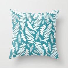 White Ferns II Throw Pillow