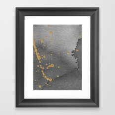 Gray and gold Framed Art Print