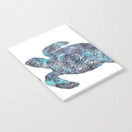 Sea Turtle Blue Watercolor Art Notebook