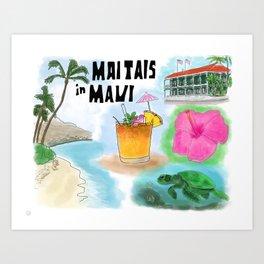 Mai Tais in Maui, Hawaii Art Print