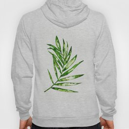 Green ink painting - fern Hoody