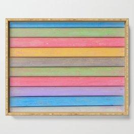 Rainbow Chalks Serving Tray