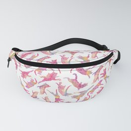 Watercolor Flying Cats - Pink Palatte Fanny Pack