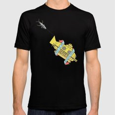 This Is An Adventure | The Life Aquatic with Steve Zissou Black Mens Fitted Tee MEDIUM