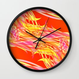 Vector pastel background of flowing bird feathers. For registration of paper or postcards. Wall Clock