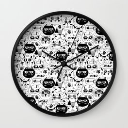 Cats Everywhere Wall Clock