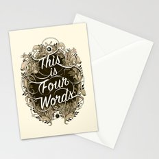 Four Words Stationery Cards
