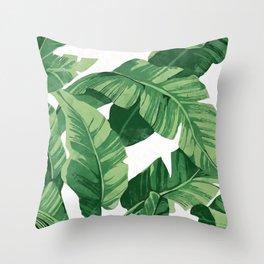 Tropical banana leaves IV Deko-Kissen