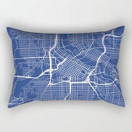 Minneapolis Map, USA - Blue Rectangular Pillow