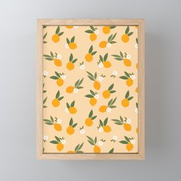 Cute Oranges Framed Mini Art Print