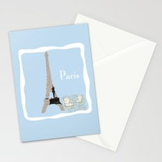 Paris in Powder Blue Stationery Cards