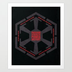 The Code of the Sith Art Print