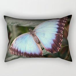 Blue Morpho - Wings Open Rectangular Pillow