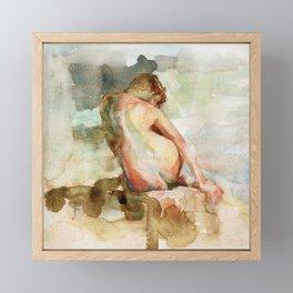 Watercolour Figure Framed Mini Art Print