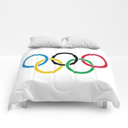 Flag of olympics games-olympic,olympic game,sport,coubertin, circles,medal,fun,international Comforters