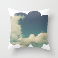 Puffy Cloud Throw Pillow