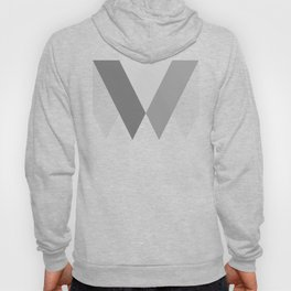Sawtooth Inverted Blue Grey Hoody