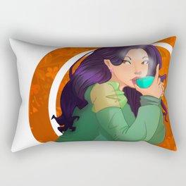 Coffee Girl Rectangular Pillow