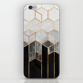 Charcoal Hexagons iPhone Skin