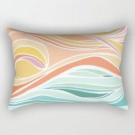 Abstract Tropical Pastel Sunset Rectangular Pillow