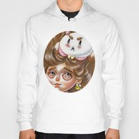 bee and puppycat Hoodies featuring A Bee and her PuppyCat by Kristin Frenzel