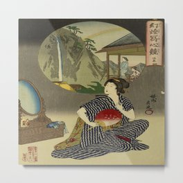 Inn at Hot Springs byToyohara Chikanobu Metal Print