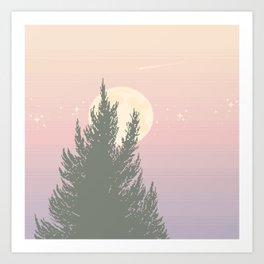 Evening Moonrise Art Print
