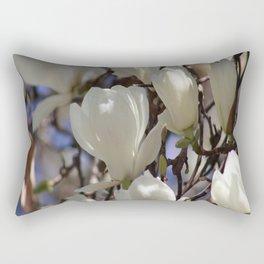 Magnolia in blossom Rectangular Pillow