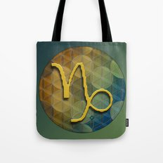 Flower of Life CAPRICORN Astrology Design Tote Bag
