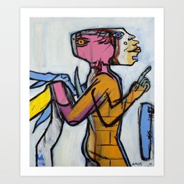 Winging It Man Art Print