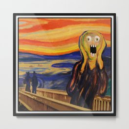 The Screamer - Really Freaked Out Metal Print